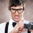 Taking a Photo — Stockfoto