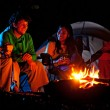 People Camping - Stock Photo