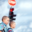 On the Way to School — Stock Photo