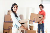 Couple Moving In — Stockfoto