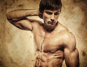 Handsome Shirtless Model — Stock Photo