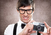 Taking a Photo — Stock Photo