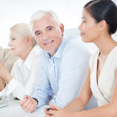 Businessman in a Meeting — Stock Photo