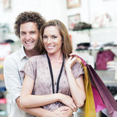 Couple Shopping Together — Stock Photo