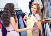 Buying a Dress — Stock Photo