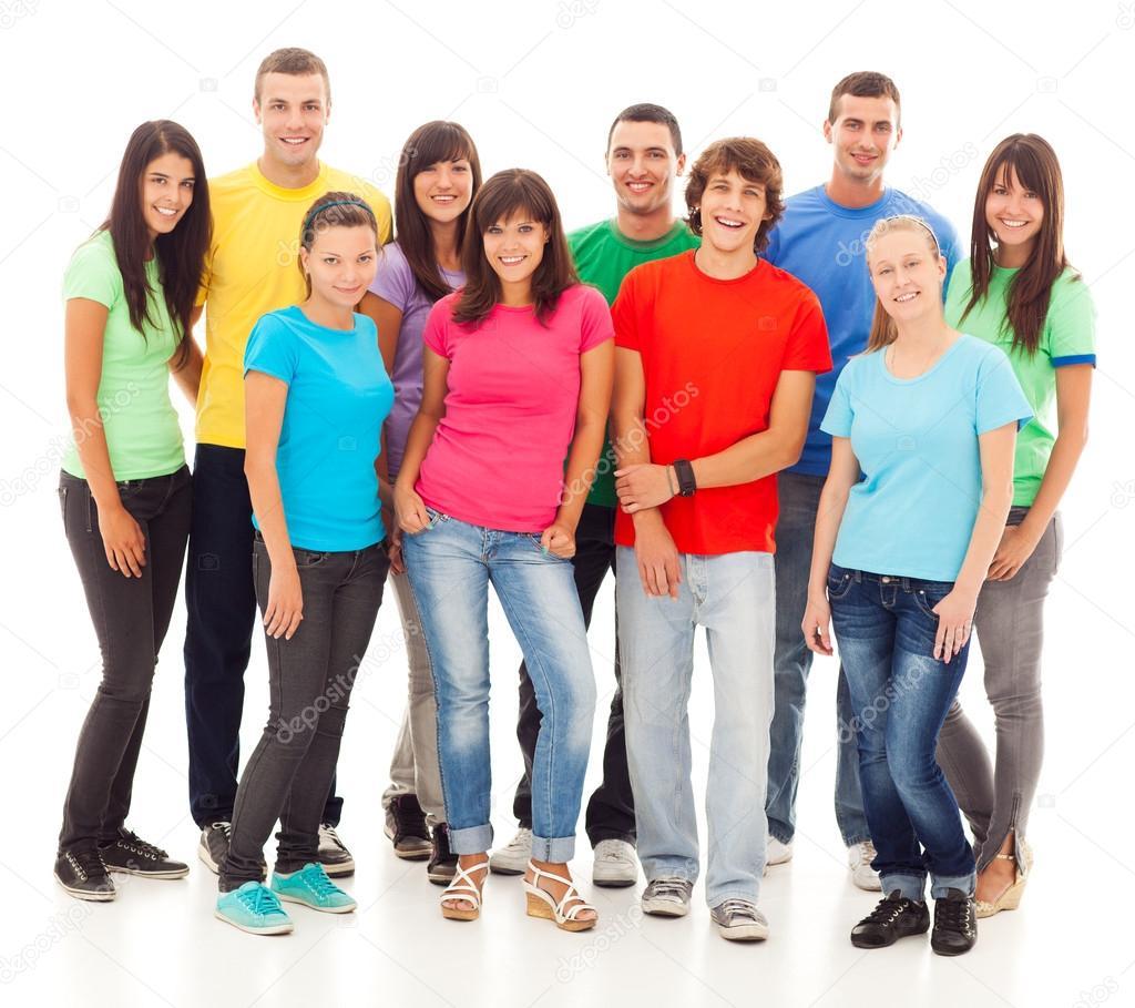 Slo Grupo De Adolescentes - Imgenes y fotos