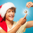 Stock Photo: Crazy Young Santa