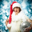 Crazy Young Santa — Stock Photo