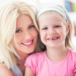 Stock Photo: Blond Mother and Daughter