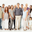 Foto Stock: Mixed Age Multi-Ethnic Group