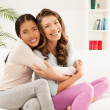 Best Friends Hugging — Stock Photo