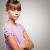 Grumpy Girl — Stock Photo