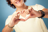 Man Showing Heart — Stock Photo