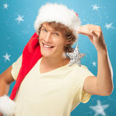 Smiling Young Santa — Stock Photo