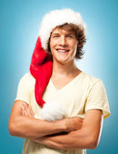 Young Santa Smiling — Stock Photo