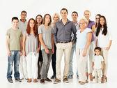 Gemengde leeftijd multi-etnische groep — Stockfoto