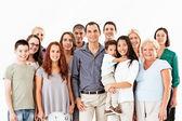 çok etnik gruptan oluşan karma yaş grubu — Stok fotoğraf