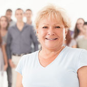 Senior Woman Smiling — Stock Photo