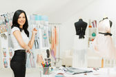 Fashion Designer Working — Stock Photo