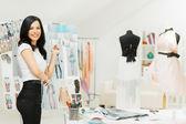 Fashion Designer Working — Stock Photo