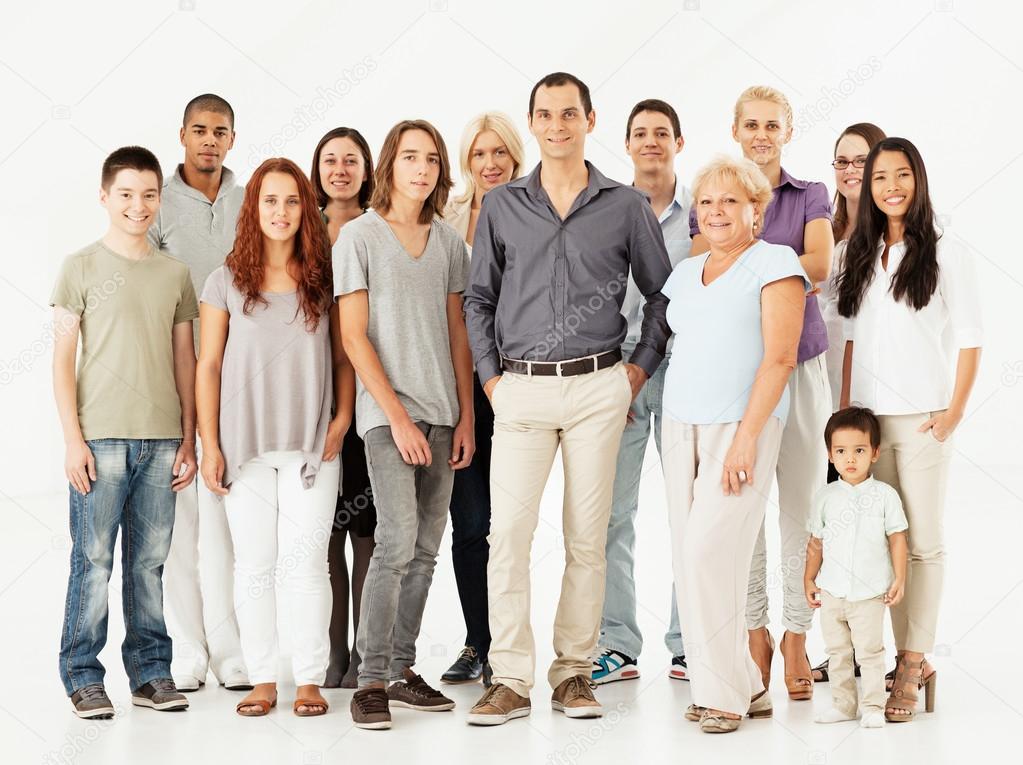 Mixed Age Multi-Ethnic Group — Stock Photo © luminastock ...