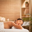 Woman Relaxing at a Spa — Stock Photo #25300559
