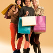 Stock Photo: Jolly Shopaholics