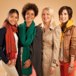 Four Different Women Smiling — Stock Photo