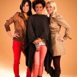 Three Fashionable Women — Stock Photo