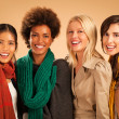 Four Women Smiling — Stock Photo