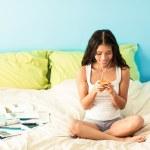 Teenage Girl Listening to Music — Stock Photo