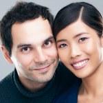 Mixed-Race Couple — Stock Photo