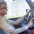 Stock Photo: WomDriving