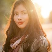 красивый женский портрет — Стоковое фото