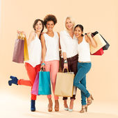 妇女购物 — 图库照片