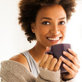 Woman Drinking Coffee — Foto de Stock