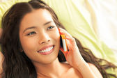 Woman Telephoning — Stock Photo