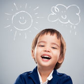 Cute Boy Laughing — Stock Photo