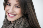 Woman with a Scarf — Stock Photo