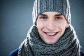человек в зимней одежде — Стоковое фото