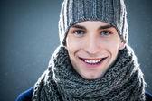 Muž v zimní oblečení — Stock fotografie