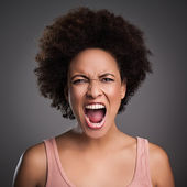 African Woman Shouting — Stock Photo