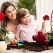 Mother and Daughter Gardening — Stock Photo #25348975