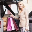 Stock Photo: Smiling Woman Shopping