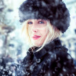 Beautiful Winter Woman — Stok fotoğraf