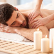 Man on a Massage Table — Stock Photo