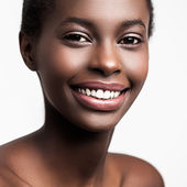 Smiling African Woman — Stock Photo