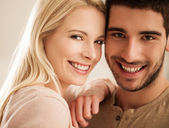 Smiling Young Couple — Stock Photo
