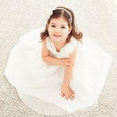 Cute Girl in a Dress — Stock Photo