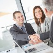 Businessmen Shaking Hands — Stock Photo #34734691